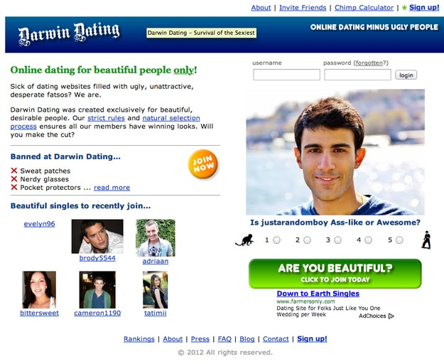Dating site for attractive people