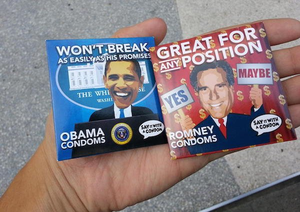 political condom wrappers