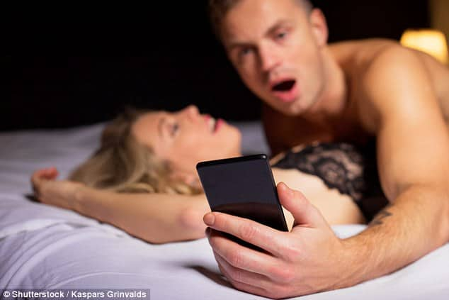 cell phone checking during sex