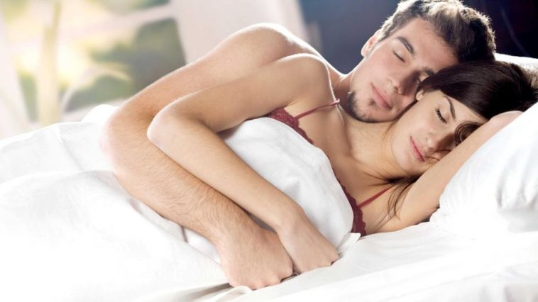 couple sex bed
